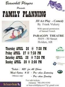 Family Planning @ The Paragon Theatre | Holden | Alberta | Canada